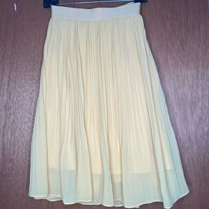 A New Day Yellow Pleated Skirt
